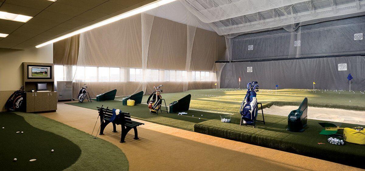 East Bank Club Indoor Golf Driving Range
