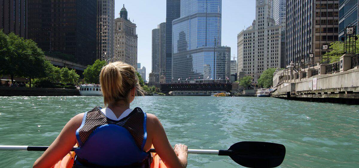 Kayaking at East Bank Club